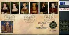 Coin Cover 1997 English ONE POUND COIN Henry VIII and his six wives stamps 17666