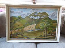 Lovely Stylised Landscape Painting Signed I. Jones