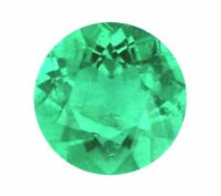 Natural Green Emerald Round Cut 2mm Gem Gemstone