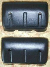 TWO NEW BLACK ARM RESTS 67 68 69 70 71 CHEVROLET GMC TRUCK WITH FASTENERS