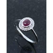 Diamond Jewellery 9ct White Gold Ruby & Diamond Cluster Ring JH000071