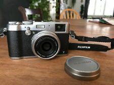 USED Fujifilm X100T 16 MP Digital Silver Fuji 23mm F2 lens 6300 shutter count