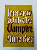 """Interview With The Vampire """"BCE"""" By Anne Rice 1976 HC w/ DJ Very Good"""