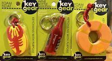 KeyGear Functional Summer Keychains (Lot Of 3 - Free Shipping)