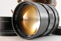 【RARE! MINT】MINOLTA AUTO MC TELE ROKKOR-PF 100mm F/2 MF Lens +Hood Case JAPAN