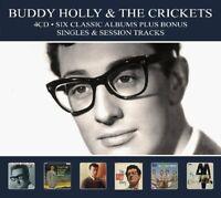 BUDDY HOLLY - 6 CLASSIC ALBUMS PLUS BONUS SINGLES & SESSION TRACKS  4 CD NEW+
