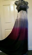 MONSOON DRESS 10 38 SMALL LONG MAXI SILK PARTY EVENING OCCASION WEDDING SUMMER