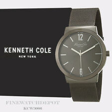 Authentic Kenneth Cole Gunmetal Stainless Steel Mesh Watch KCW3066
