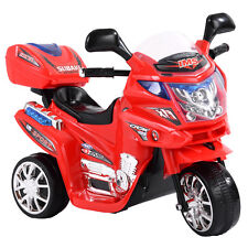Kids 3 Wheel Mini Motorcycle Ride On Power Bike Bicycle Battery Operated Red