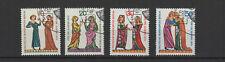 1970 Allemagne Berlin troubadours 4 timbres oblitérés/T2212