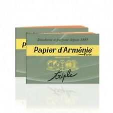 2 CARNETS VERITABLE PAPIER D'ARMENIE DESODORISANT NATUREL TRADITION