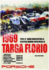 Reproduction Targa Florio 1969 poster A2 A3 A4 908 & 911 Winners Racing