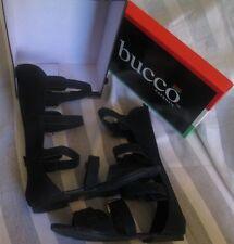 NWB Bucco black gladiator melva flat sandals size 8