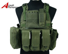 Tactical Military USMC Molle Plate Carrier Assault Vest Airsoft Hunting Olive OD