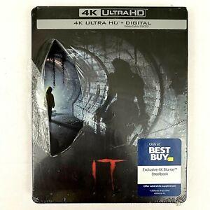 IT Steelbook (4K Ultra HD Blu-Ray + Digital) Horror Stephen King SEALED W/ TEARS