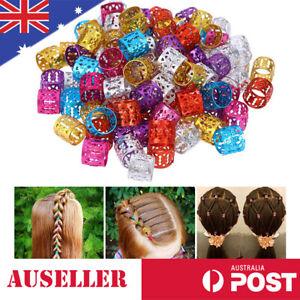 Hair Braid Ring Cuff Clips Beads Dreadlocks Adjustable Hair Extension Decor Wig