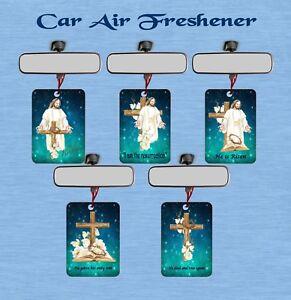 CHRISTIAN EASTER CAR/OFFICE/STUDY AIR FRESHENER  JESUS CROSS RESURRECTION