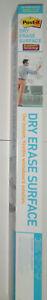 3M Post-it Super Sticky Dry Erase Surface, 4' x 3' (DEF4x3) Whiteboard Film
