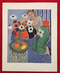 Henri Matisse, Anemones And Woman, Offs.Lithograph 1939,Plate-signed, Vintage