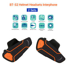 INTERCOMUNICADOR De Casco 2Set BT-3.0 2.4G Interphone 3.0+EDR AVRCP Auriculares 1KM Impermeable