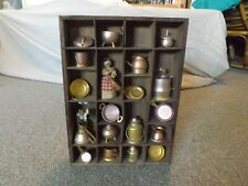 "9"" x 12"" Wooden Shadow Box with Brass and Copper Collectibles"