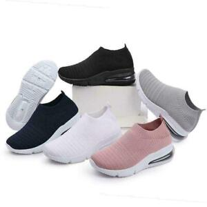 Ladies Women Running Trainers Jogging Fitness Sock Slip On Sports Walk Gym Shoes