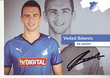 FOOTBALL carte joueur VEDAD IBISEVIC équipe 1899 HOFFENHEIM signée