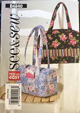 NEW Butterick Sewing Pattern B4840 Handbags TOTE SEE & SEW UNCUT