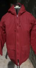 Women's Misty Harbor Red Quilt Lined Rain Coat Size Small