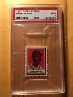 1962 Topps Hank Aaron Stamp PSA Mint9 Pop 6 Rare!