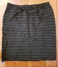 Mphosis Striped cut skirt black - Sz S / Sz 8