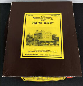 Magnuson Models Fountain Brewery 439-510 HO Scale Brick Building Kit Incomplete