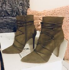 Lipstick Labrinth High Heel Ankle Boots - Taupe Size 7½ BNIB RRP $99