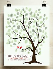 Family tree guest book alternative print 16x20 for up to 100 guests Mother's Day