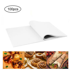 100X Disposable Non-Stick Food Wrapping Wax Paper Sandwich Candy Wrap Paper NEW