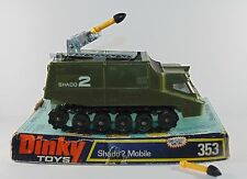 Dinky Toys 353 Shado 2 Mobile Missile Rocket Launcher with box