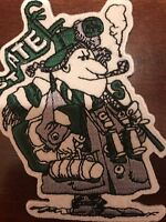 "MSU Michigan State Spartans embroidered iron on patch  vintage 4"" X 2.5"""