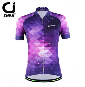 CHEJI Purple Fantasy Cycle Jersey Women's Bicycle Shirt Jersey Biking Jacket