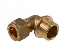 10mm Compression x 3/8 Inch BSP Male Elbow | Brass Plumbing Fittting