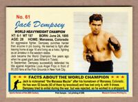 Jack Dempsey World Heavyweight Boxing Champ, 20th Century series #61
