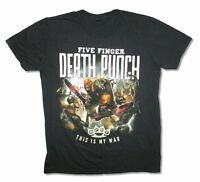 Five Finger Death Punch This Is My War Black T Shirt New Official Adult