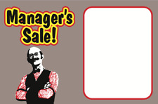 25 Pcs Retail Store Managers Sale Price Display Case Shelf Signs Tags