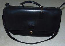 Coach 5180 Metropolitan Black Leather Briefcase Satchel Crossbody  Very Nice USA