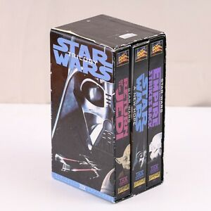 STAR WARS Trilogy Box Set 1995 VHS A New Hope Return of the Jedi Empire Strikes