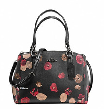 New Coach F55538 Mini Christie Carryall in Halftone Floral Print Coated Canvas