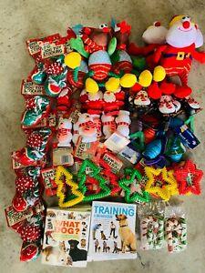 10 X BARGAIN CHRISTMAS XMAS BUNDLE TOYS  TREATS PET PUPPY DOG DOGGY CHEW TOY