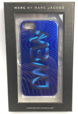 NEW Marc by Marc Jacobs MBMJ Logo Blue Metallic iPhone 5/5s Case