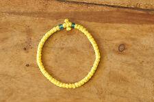 YELLOW Waxed Chotki Komboskoini Summer Bracelet Christian Orthodox Prayer Rope