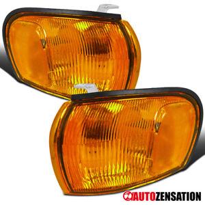 For 1995-2001 Subaru Impreza Amber Lens Front Turn Signal Corner Lights Lamps
