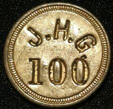 J.H.G. Picker'S Check John H Gushel 100 Canning Token Medal Coin Anne Arundel Md